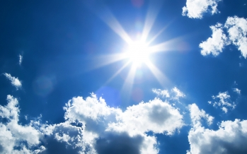 Wall-to-wall sunshine with low humidity<br>expected for the next couple of days